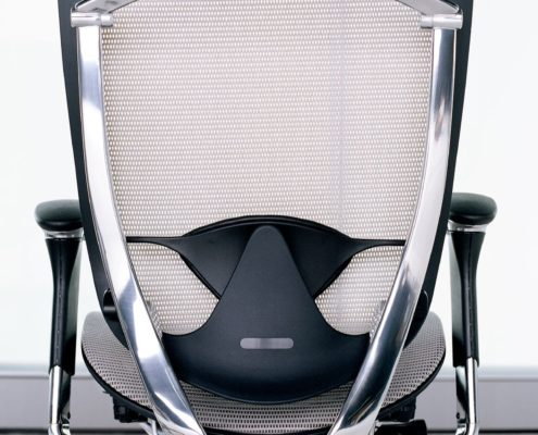 Contessa Task Chair Polished Aluminum Back View