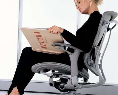 Contessa Task Chair Tess Sliver Side View