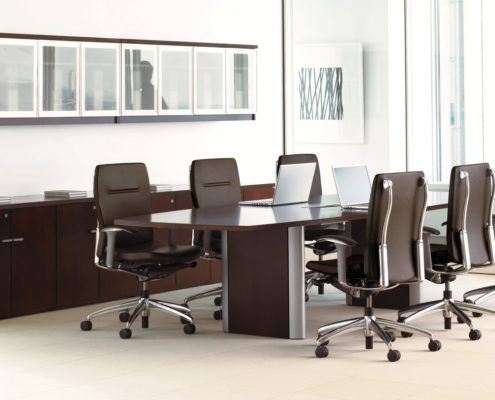 Expansion Wood Meeting Room Convex Racetrack Conference Table