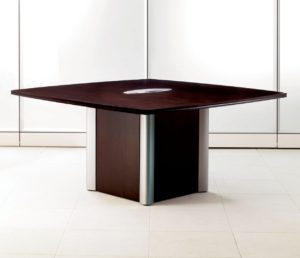 Expansion Wood Square Meeting Table Square Base