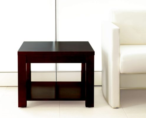 Expansion Wood Square Side Table