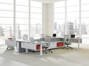 District Free Standing Open Interpret Credenzas