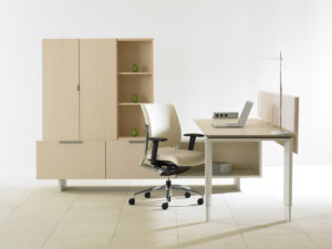 District Private Office Blonde Maple