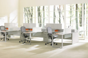 Expansion Desking Spine Desk with Return