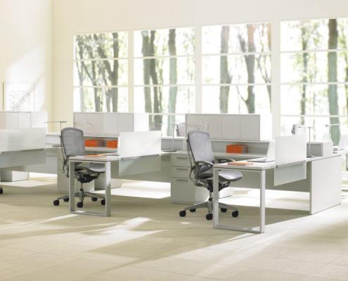 Expansion Desking Spine Desk with Return