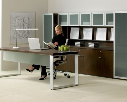 Expansion Typical Desk with Frame Legs