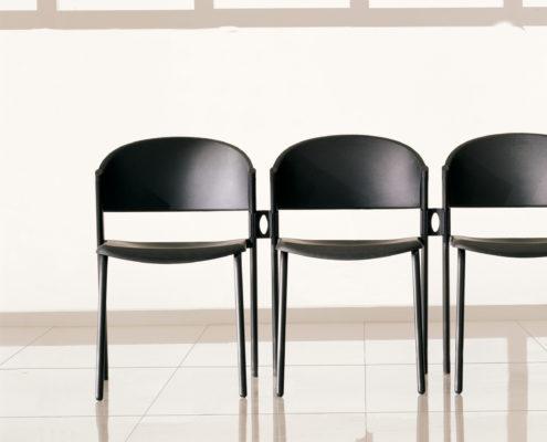 Zone Stacking Plastic Chair Ebony Shell