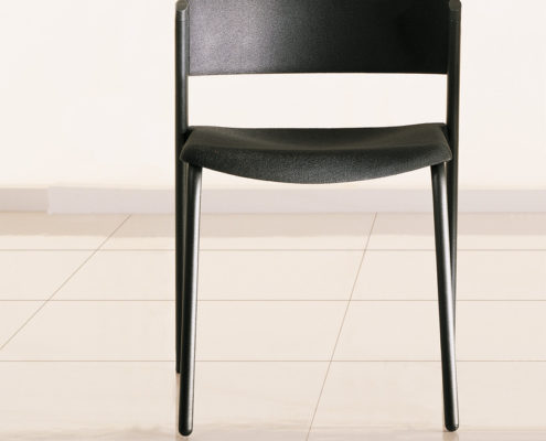 Zone-Stacking-Plastic-Chair with Ebony Shell and Frame
