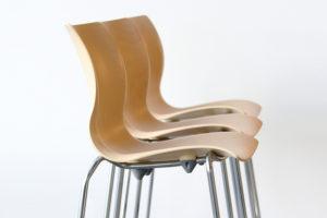 Nami 3D Wood Stool Group