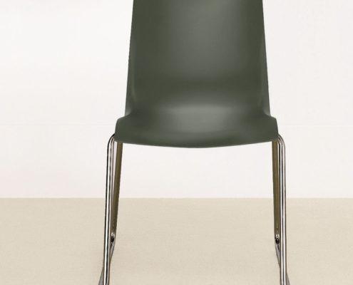 Nami Stacking Chair Lunar Grey