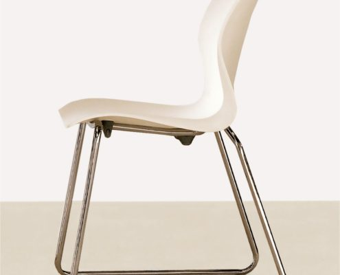 Nami Stacking Chair Storm White