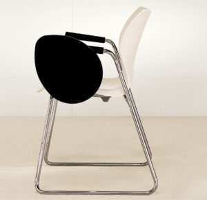 Nami Stacking Chair Storm White With Tablet