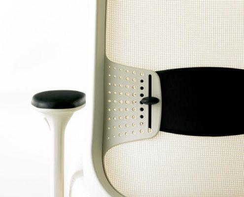 Projek Task Chair Stone Mesh Stone Outer Frame Stone Inner Frame Ebony