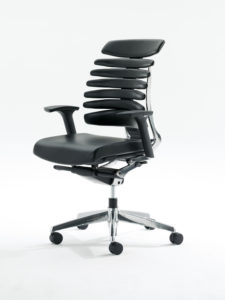 RBT Task Chair View Left Polished Aluminum Base