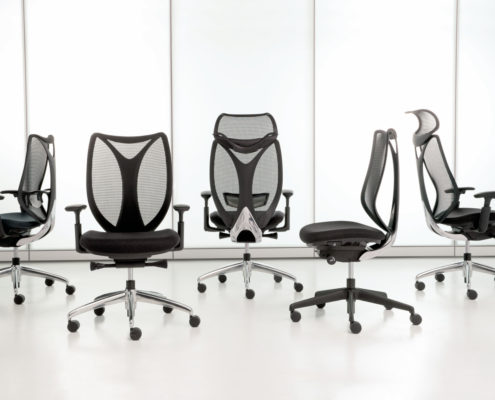 Sabrina Task Chair Iron Mesh Ebony Frame