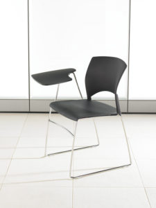 Volume Stacking Chair with Tablet Arm